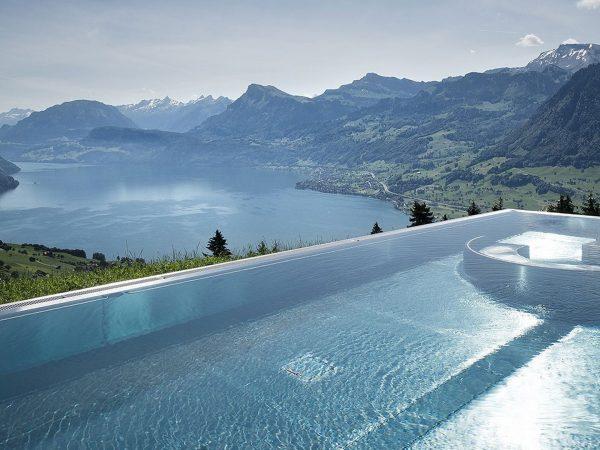 Hotel Villa Honegg outdoor pool Switzerland