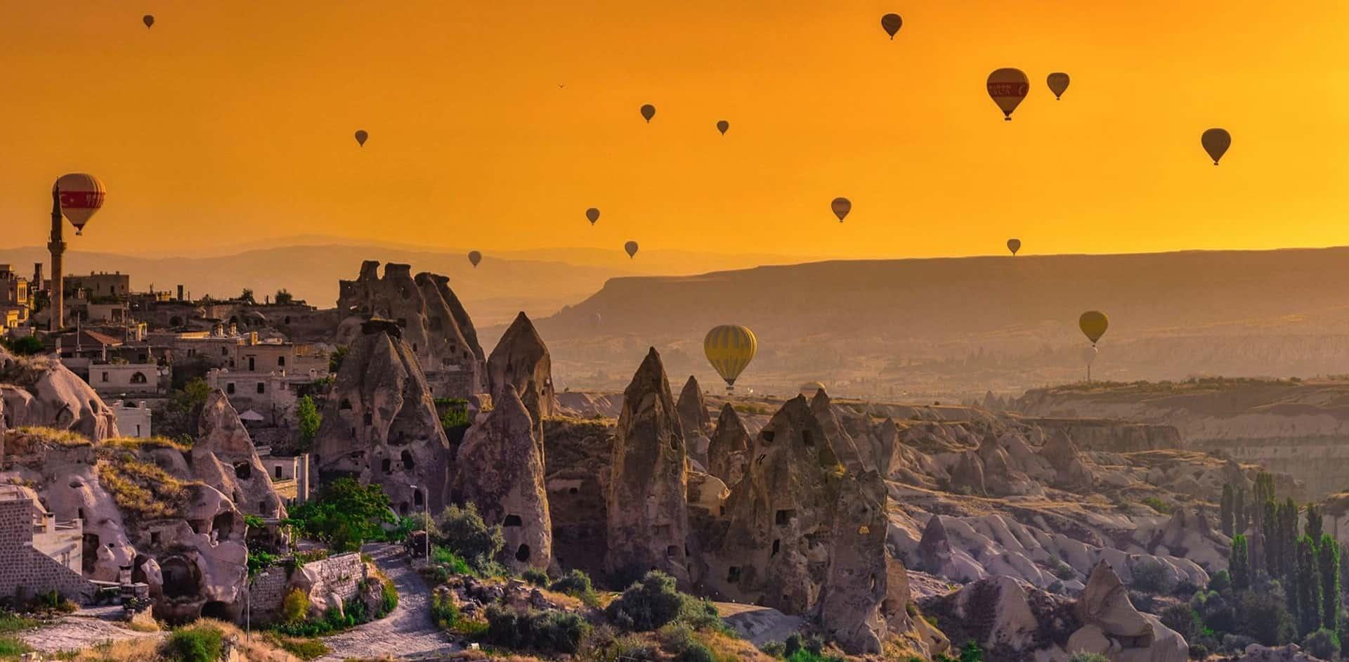Balloning over Cappadocia, Turkey
