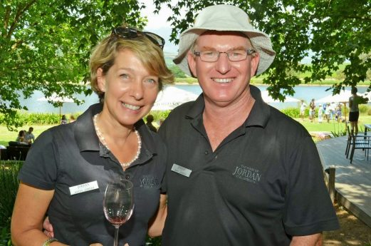 Kathy & Gary, owners of Jordan Wine Estate