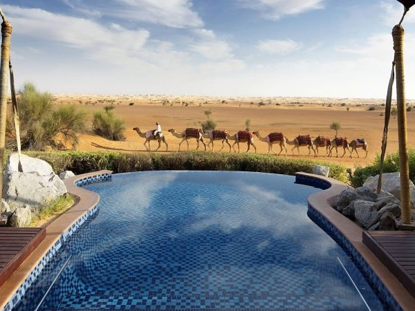 Al Maha Desert Resort and Spa Luxury Collection Resort Suite pool