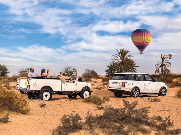 Al Maha Desert Resort and Spa Luxury Collection Resort hot air ballon