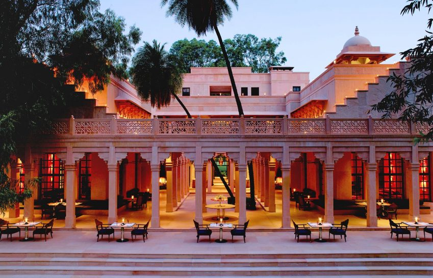 Amanbagh terrace dining