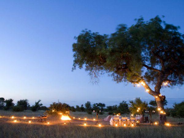 AndBeyond Ngala Safari Lodge dinner