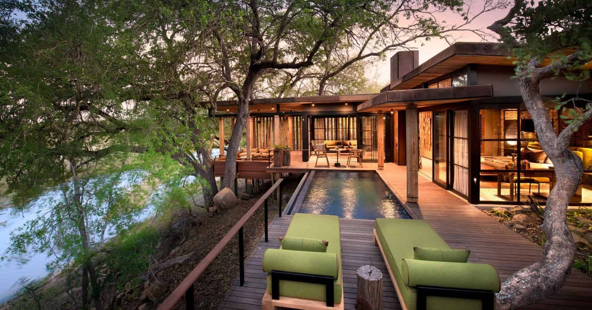 AndBeyond Tengile River Lodge Family Suite Exterior