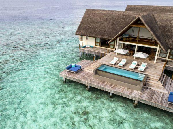 Four Seasons Resort Maldives at Landaa Giraavaru Baa Atoll sunset 2 bedroom water villa