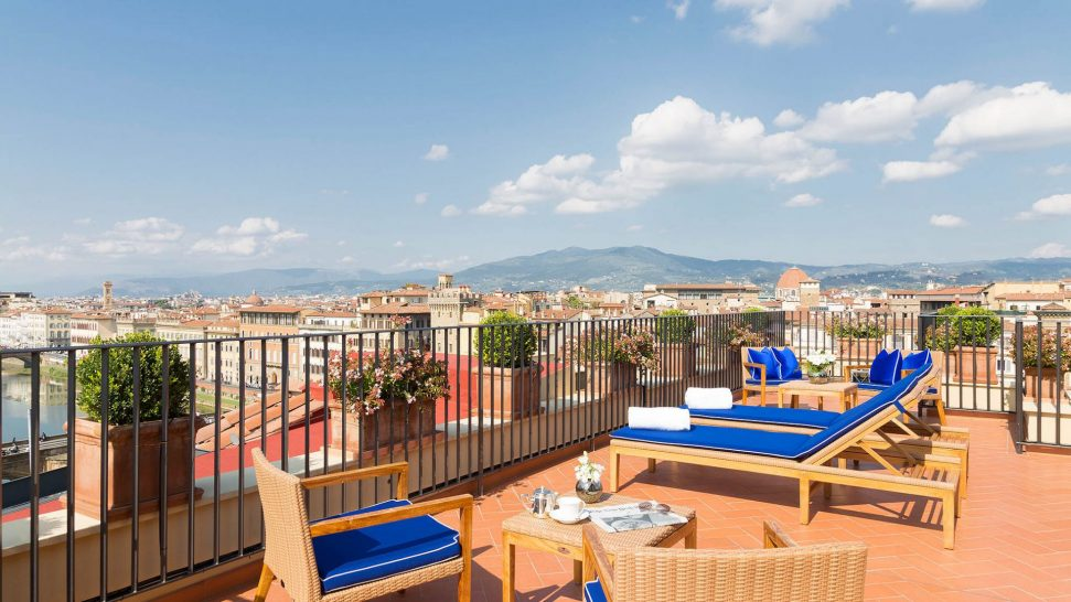 Hotel Lungarno Florence rooftop terrace suite