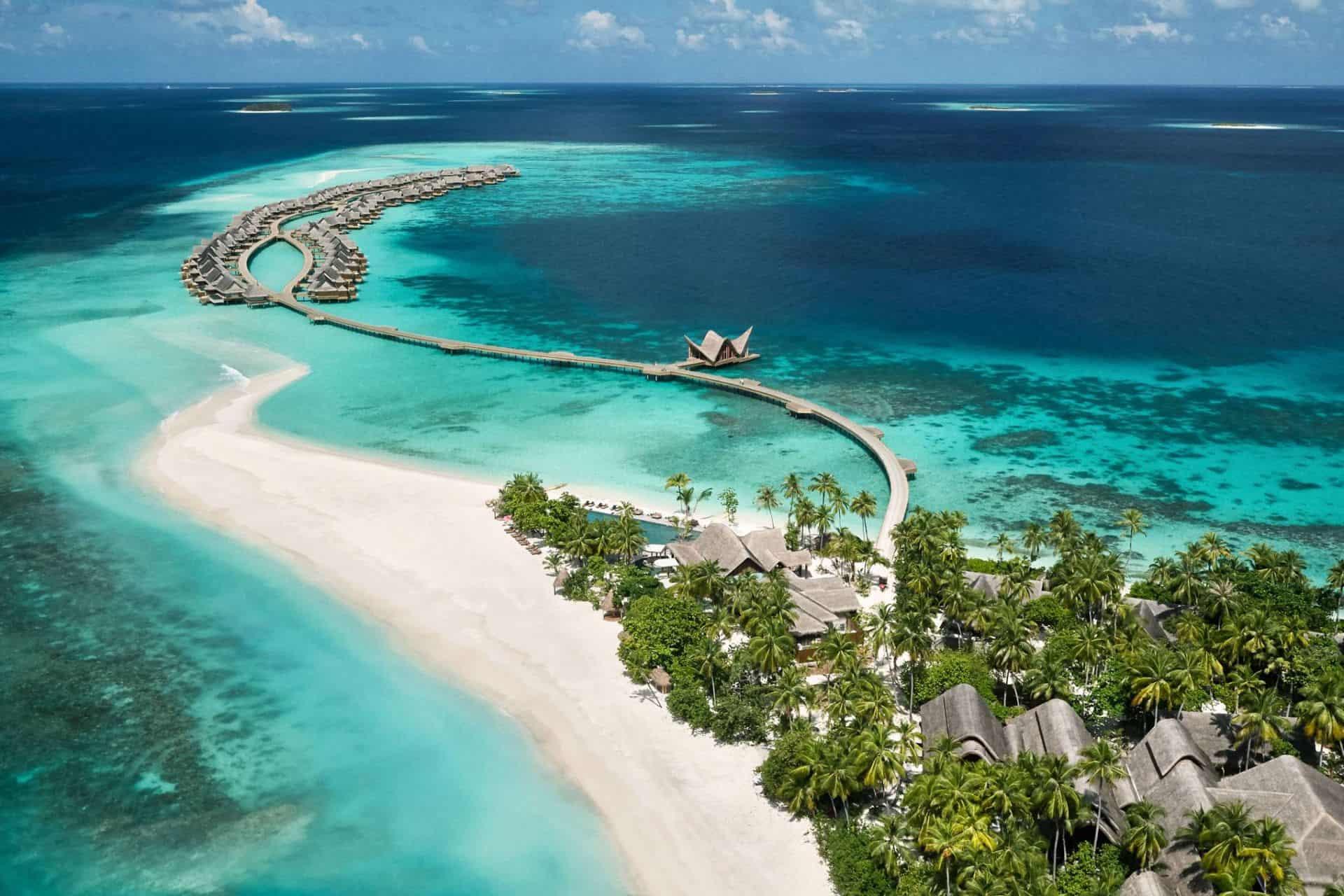 Joali maldives aerial view