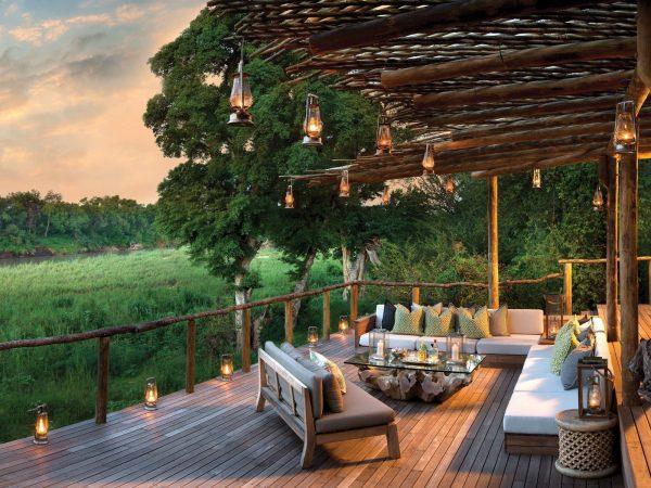 Lion Sands River Lodge Riverside Terrace