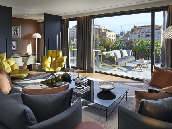 Mandarin Oriental Barcelona premier suite terrace living room