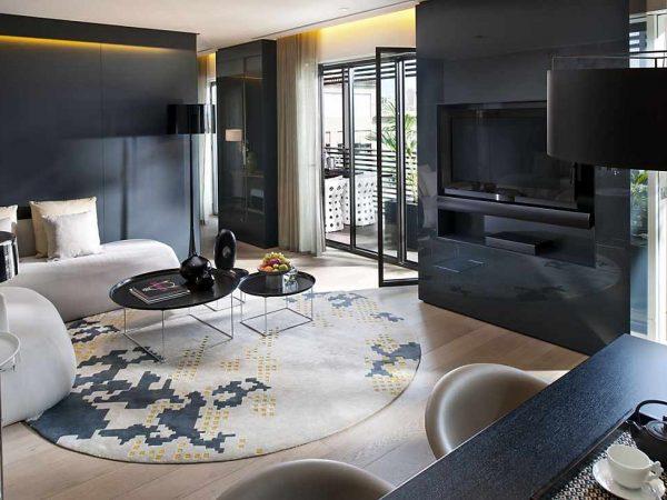 Mandarin Oriental Barcelona suite terrace living room