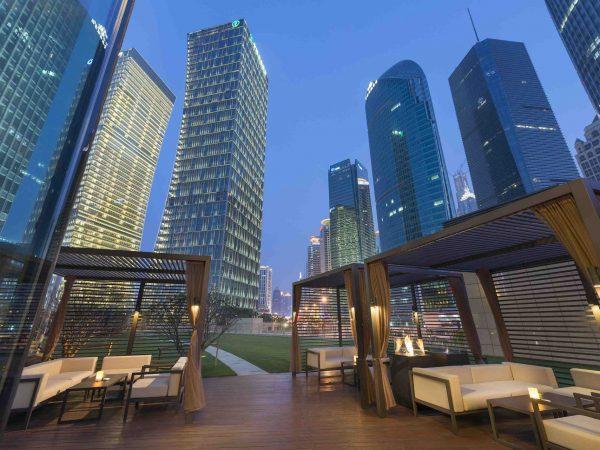 Mandarin Oriental Pudong Shanghai Qi bar terrace