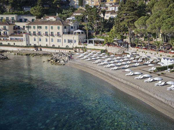 Belmond Villa Sant Andrea Sicily Private beach