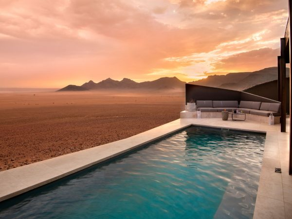 Private plunge pool view suite andBeyond Sossusvlei