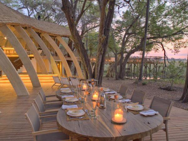 AndBeyond Sandibe Okavango Safari Lodge guest area