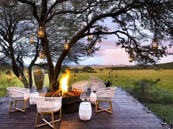 Singita Serengeti House Bush Fire Micky Hoyle