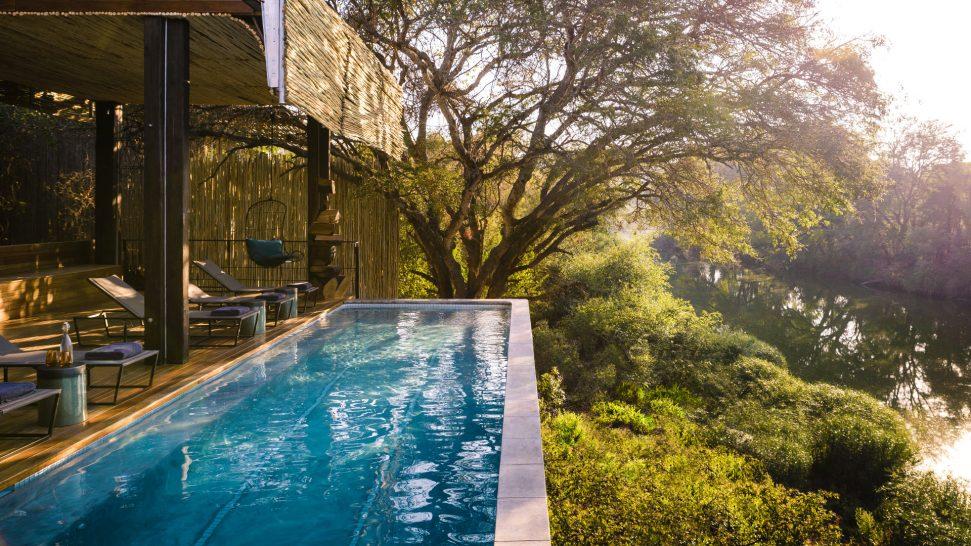 Singita Sweni main lodge pool