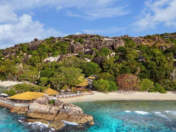 Six Senses Zil Pasyon Seychelles aerial view
