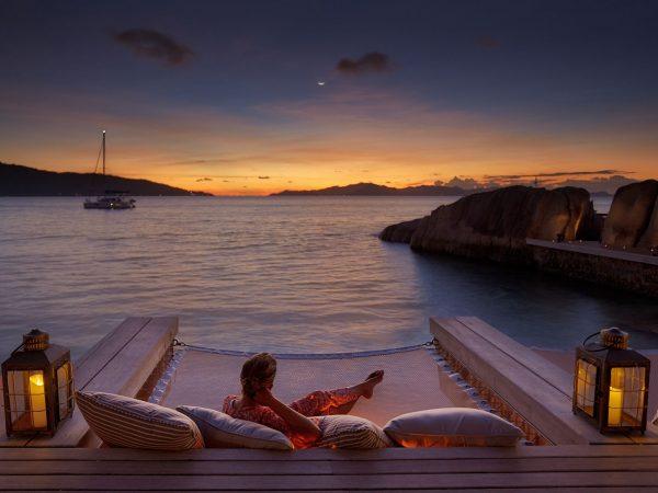 Six Senses Zil Pasyon Seychelles sunset koko bar