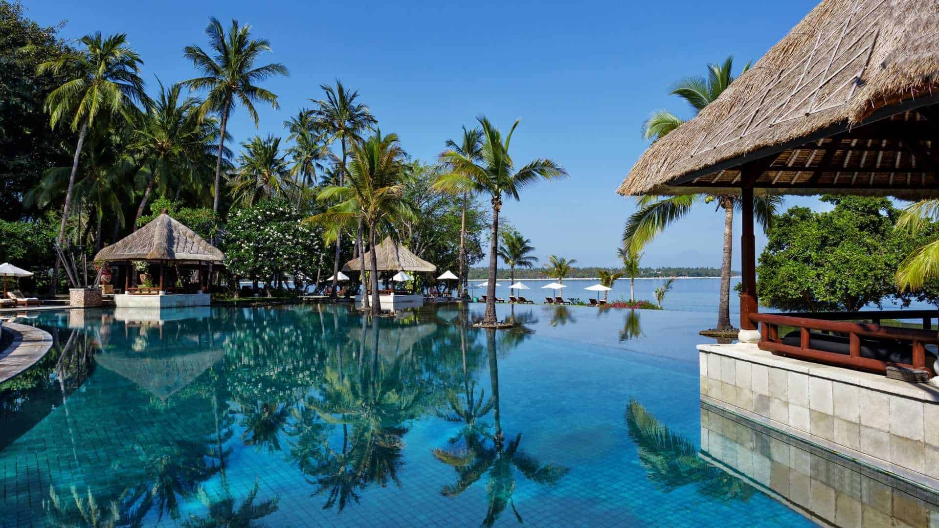 The Oberoi Beach Resort Lombok Pool