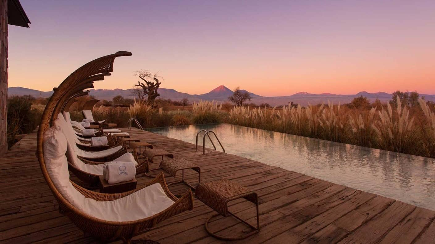 Tierra Atacama Chile Sunset Pool