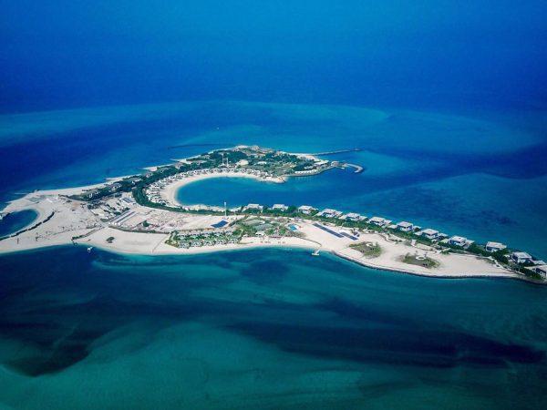 Zaya Nurai Island Arial View