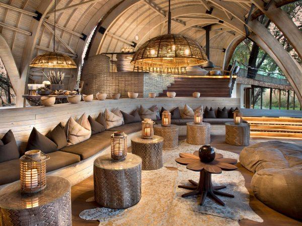 AndBeyond Sandibe Okavango Safari Lodge living room