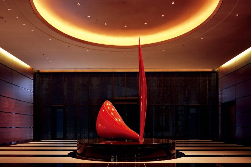 Art in ground floor reception at Conrad Tokyo