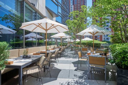 Grand Hyatt hotel Tokyo french kitchen patio