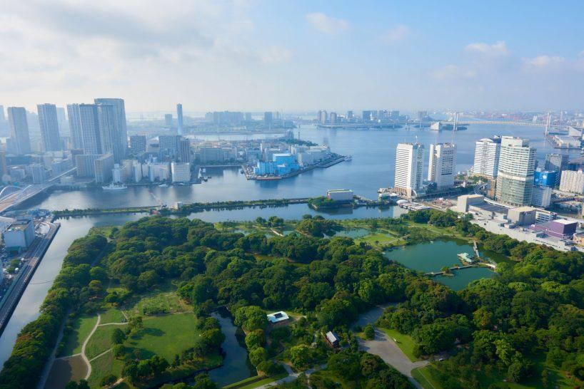 Hamarikyu Garden and Tokyo Bay