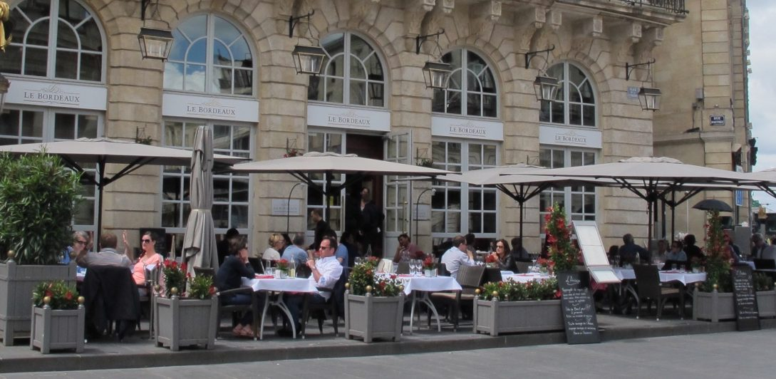 Al fresco dining at Brasserie Le Bordeaux Gordon Ramsay
