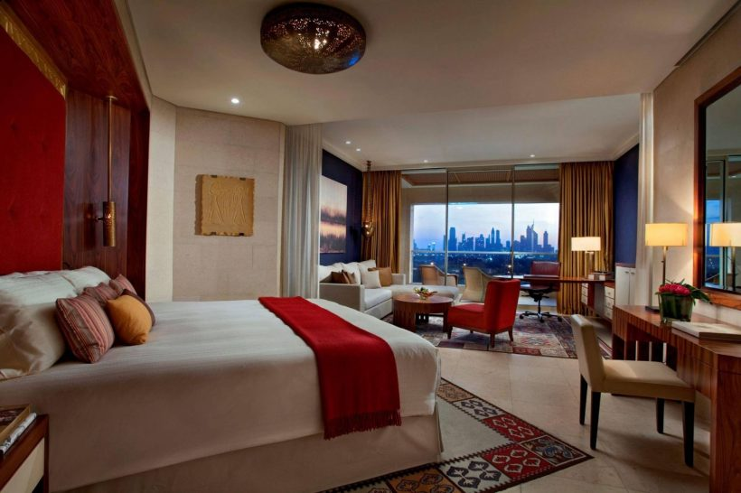 Raffles Club Room Dubai Skyline