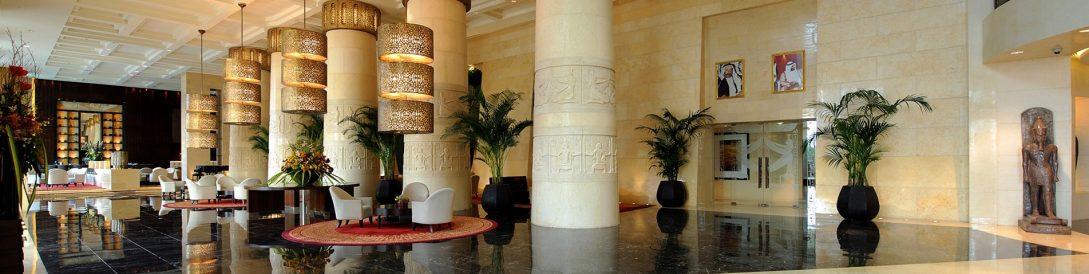Raffles Dubai Lobby Panorama