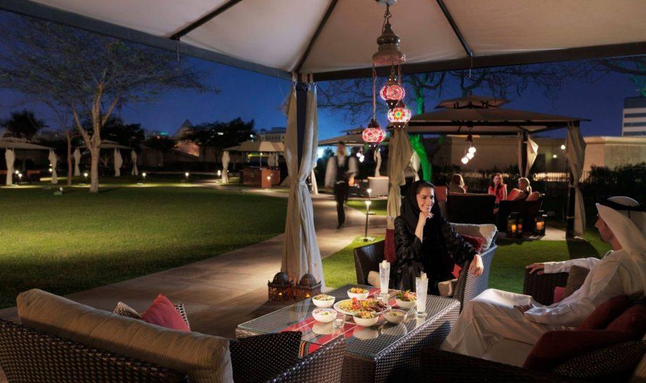 Raffles Dubai Rooftop Garden Cabana