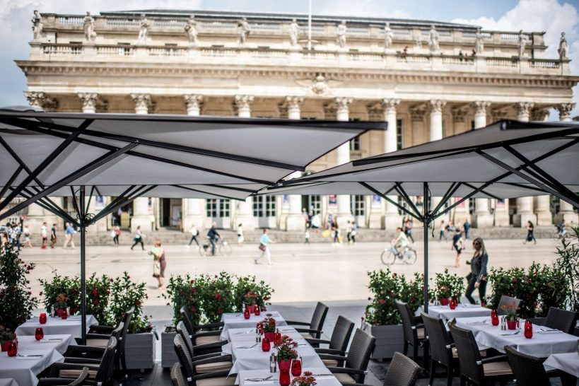 View of Opera House from Brasserie Le Bordeaux Gordon Ramsay