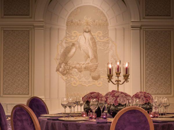 Ballroom Dining Setup