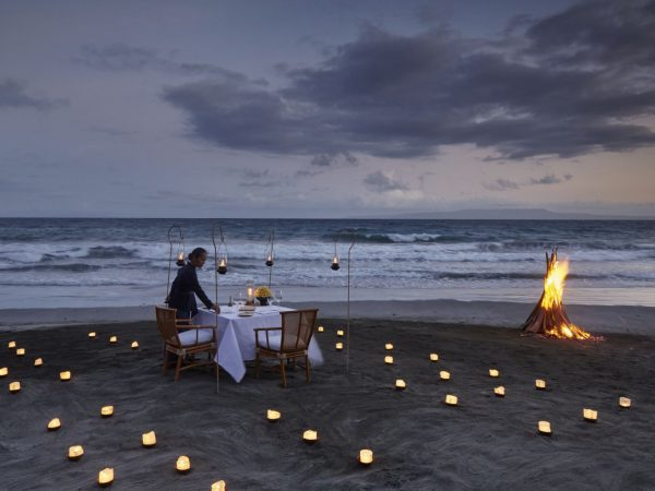 Amankila Beach Dinner