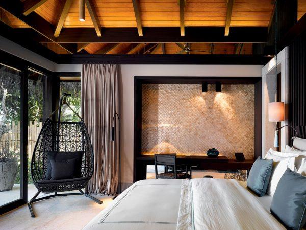Velaa private island Beach Pool House Bedroom