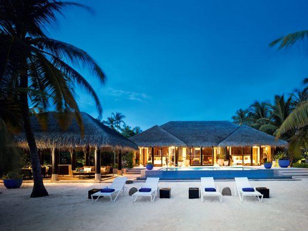 Velaa private island Beach Pool House Exterior
