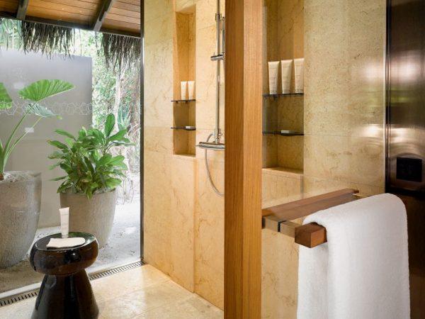 Velaa private island Beach Pool Villa Bathroom