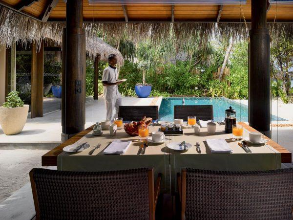 Beach Pool Villa Outdoor Dining Area