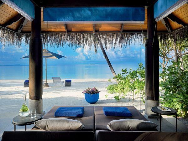 Velaa private island Beach Pool Villa Outdoor Gazebo