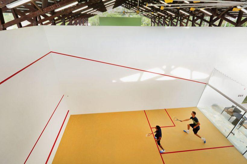 Velaa private island Covered Squash Court