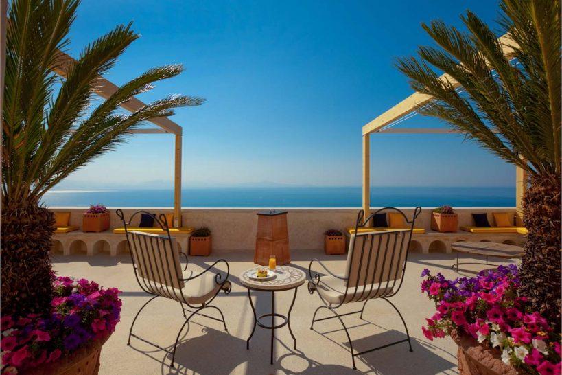 Monastero Santa Rosa Hotel Spa Amalfi Outdoor Lounge Terrace