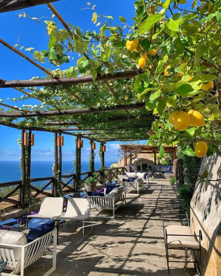 Monastero Santa Rosa Hotel Spa Amalfi Outdoor Lounge Terrace Dining