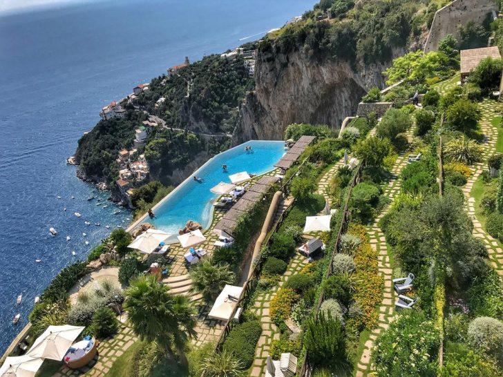 Monastero Santa Rosa Hotel Spa Amalfi Pool and Gardens