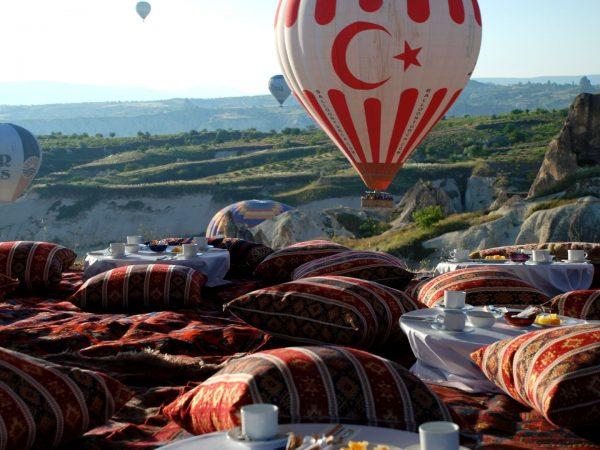 Museum Hotel Breakfast in a Cappadocian valley