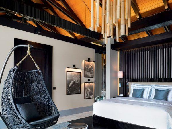 Velaa private island Romantic Pool Residence Bedroom