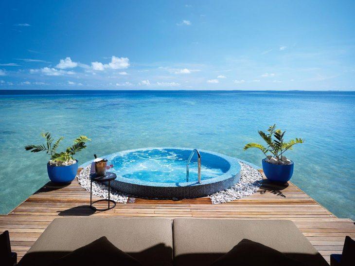 Velaa private island spa jacuzzi