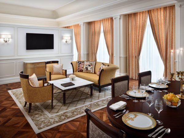Versace Grand Suite Living area
