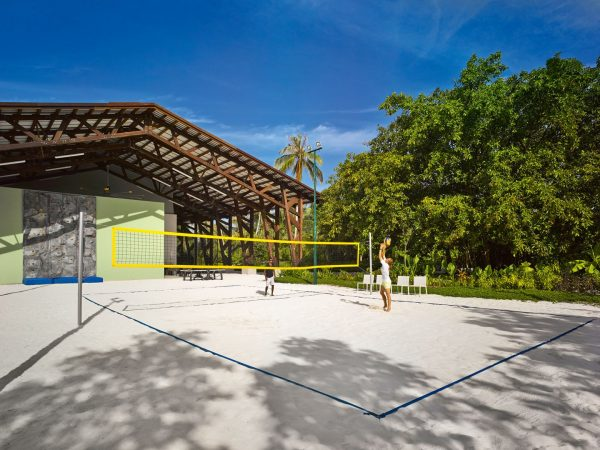 Velaa private island Volleyball court